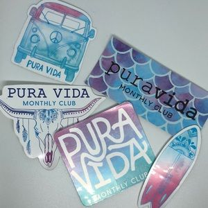 Pura Vida Stickers w/ a free bag!